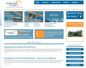 industrial computer website design